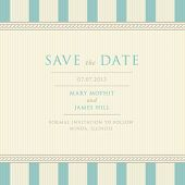 Set of wedding invitations and announcements with vintage background artwork. Ornate damask backgrou