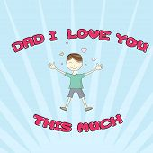 picture of you are awesome  - I Love You This Much Greeting Card - JPG