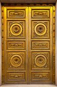 Golden Antique Door