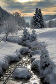 stock photo of winter landscape  - Winter in the Black Forest in Germany - JPG
