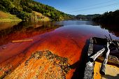 pic of greenpeace  - Water pollution of a copper mine exploitation - JPG