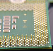 image of microprocessor  - Modern Microprocessor for computer (with pins), shallow DOF