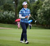 KUALA LUMPUR - OCTOBER 12: Se Ri Pak of South Korea walks towards the 2nd hole green of the KLGCC co