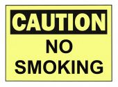 foto of osha  - OSHA caution no smoking warning sign isolated on white - JPG