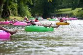 Dozens Of People Enjoy Tubing Down North Georgia River
