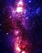 foto of outer  - colorful and beautiful galaxy somewhere in deep outer space - JPG