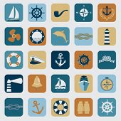 stock photo of nautical equipment  - Nautical design elements  - JPG