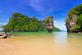 foto of james bond island  - Ko Tapu rock on James Bond Island - JPG