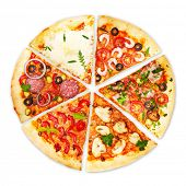 foto of edible  - Pizza isolated on white background - JPG