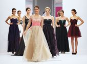 ZAGREB, CROATIA - OCTOBER 12: Fashion model in wedding dress on 'Wedding Expo' show in the Westgate