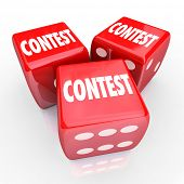 Contest 3 Red Dice Roll Play to Win Gamble Bet