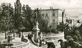 STUTTGART, GERMANY, CIRCA 1940: Eugens-Brunnen (Galateabrunnen) fountain  at a viewing platform at E