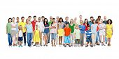 stock photo of gathering  - A Large Group of Diverse Colorful Happy People - JPG