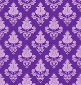 Violet Flowers On Violet Background