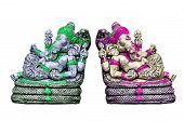 image of ganesh  - The sculpture of Indian god Lord Ganesh on white background - JPG