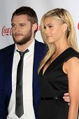 LOS ANGELES - MAR 27:  Jack Reynor, Nicola Peltz at the  CinemaCon 2014 Awards Gala at Caesars Palac