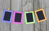picture of clotheslines  - Colorful frames  - JPG