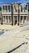 Roman theater in Merida, the theater, today, is used for theatrical performances, Merida, Badajoz, E
