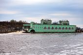stock photo of hydroelectric  - Volkhov HYDROELECTRIC POWER station - JPG