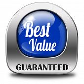 best value for the money web shop icon or online promotion button, sticker or sign for internet webs