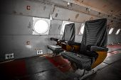 pic of outdated  - an old outdated passenger air inside detail - JPG