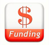 stock photo of non-profit  - funding button fund raising for charity money donation for non profit organization - JPG