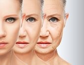 picture of human face  - beauty concept skin aging - JPG