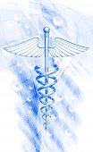 foto of sceptre  - digital illustration of 3d medical icon on a colour background - JPG