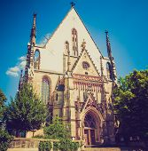 picture of leipzig  - Thomaskirche St Thomas Church in Leipzig Germany where Johann Sebastian Bach worked as a Kapellmeister and the current location of his remains - JPG