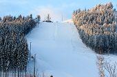 foto of snow-slide  - snow - JPG