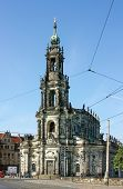 stock photo of trinity  - Cathedral of the Holy Trinity was always the most important Catholic church of the city Dresden Germany - JPG
