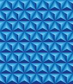 pic of triangular pyramids  - Abstract pattern of blue trihedral pyramids - JPG