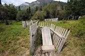 picture of yesteryear  - Rustic old Chitina Cemetery holds history of town - JPG