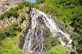 pic of horsetail  - Horsetail falls from Whittier Glacier near Valdez Alaska - JPG