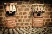 picture of smoker  - View      Roof with two smoker in Orvieto - JPG