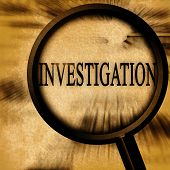 foto of investigation  - investigation on a grunge background with a magnifier - JPG