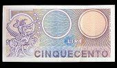 Постер, плакат: Старый итальянский банкноты
