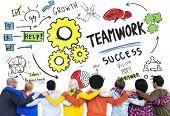 foto of collaboration  - Teamwork Team Together Collaboration Diversity People Friends Concept - JPG