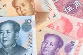 image of yuan  - Chinese or Yuan banknotes money from China - JPG