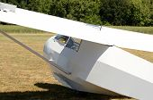 stock photo of glider  - Sailplane or glider being flown in the valley near Portland Oregon - JPG