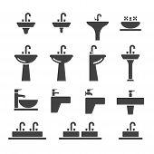 picture of sink  - web sink icon illustration design vector sign symbol - JPG