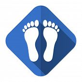 stock photo of flat-foot  - foot flat icon   - JPG