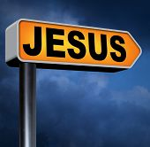 stock photo of christianity  - Jesus leading way to the lord faith in savior worship christ spirit search belief in prayer christian Christianity  - JPG