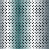 foto of metal grate  - Concept conceptual gray abstract metal stainless steel aluminum perforated pattern texture mesh background as metaphor to industrial - JPG