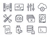 stock photo of vpn  - Computer and Network Icons Set 02  - JPG