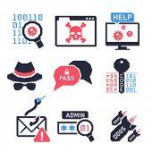 foto of hack  - Hacking icons set 02  - JPG