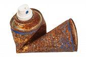 pic of spray can  - Rusty spray can - JPG
