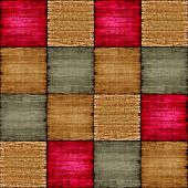 picture of chessboard  - Multicolored patch texture collage in a chessboard order as abstract background - JPG