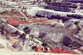 stock photo of open-pit mine  - gravel pit quarry - JPG