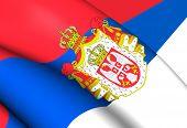 picture of serbia  - Kingdom of Serbia Flag  - JPG
